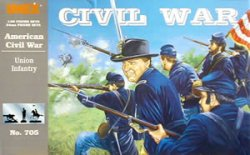 Imex 1/32nd Scale American Civil War Plastic Union Infantry Set 705
