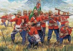 Italeri 1/72nd Scale Zulu War British Infantry Plastic Soldiers Set 6050