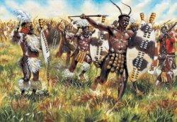 Italeri 1/72nd Scale Zulu War Zulu Warriors Plastic Figures Set 6051