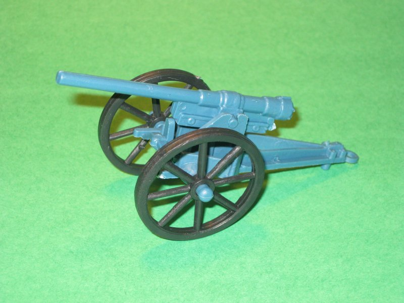 Image 0 of WWI Style Blue Plastic Artillery Cannon