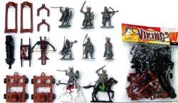 Medieval Plastic Vikings And Artillery Figures Set 31