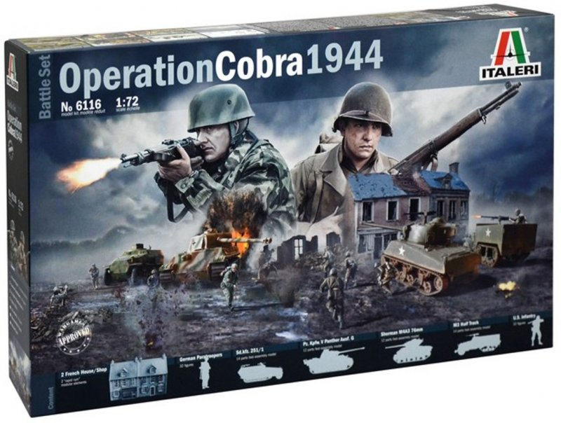 Image 0 of Italeri 1/72nd WWII Operation Cobra Diorama Set 6116