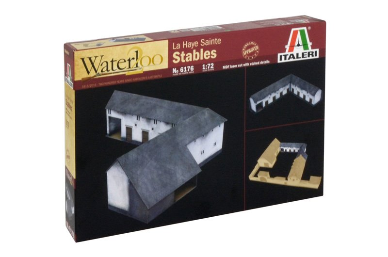 Image 0 of Italeri 1/72nd Napoleonic Waterloo Battle At La Haye Sainte Stables 6176 Set