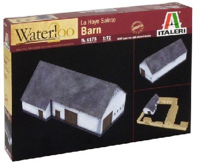 Image 0 of Italeri 1/72nd Napoleonic Waterloo Battle At La Haye Sainte Barn 6175 Set