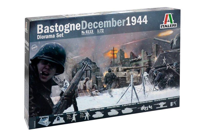 Image 0 of Italeri 1/72nd WWII Bastogne December 1944 Diorama Playset 6113
