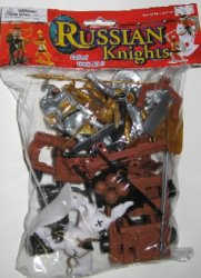 Medieval Russian Knights Plastic Figures Set No. 36