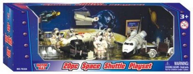 Image 0 of Motor Max Space Shuttle Moon Exploration Diecast Metal Plastic Playset