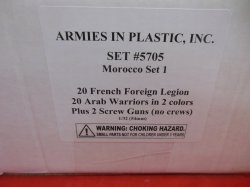 Armies In Plastic 1/32nd Morocco Set #1 5705 Battle Army Figures Set