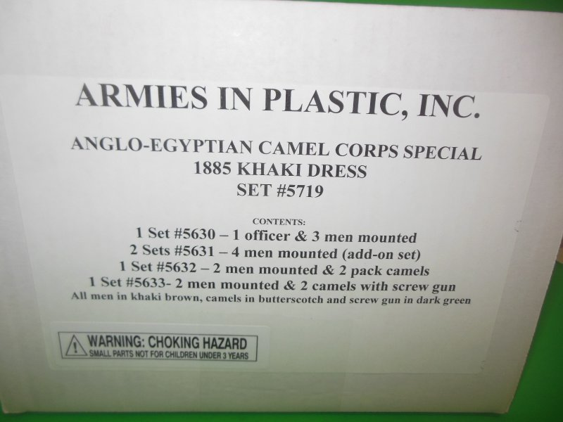 Image 0 of  Armies In Plastic-1/32th Egyptian Camel Corps Deluxe Set 5719