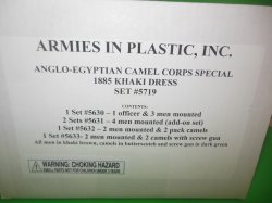 Armies In Plastic-1/32th Egyptian Camel Corps Deluxe Set 5719