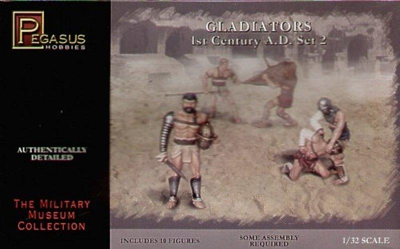 Image 0 of Pegasus 1/32nd Scale Roman Gladiators 1st Century AD Set 3202