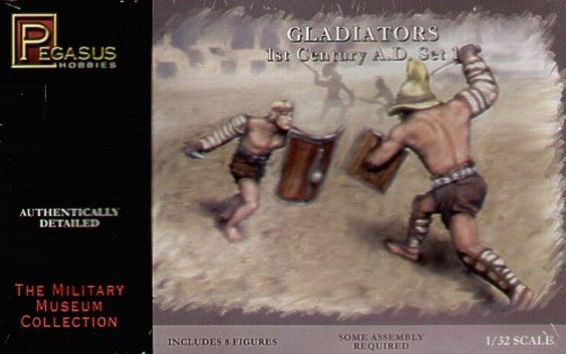 Image 0 of Pegasus 1/32nd Scale Roman Gladiators 1st Century AD Set 3201