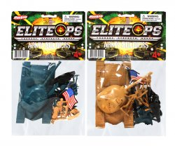 Green Vs Tan Army Tanks And Soldiers Figures 2 Pack Set