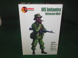 Mars 1/32nd Scale Vietnam War U.S. Infantry Plastic Figures Set 32006