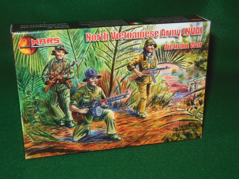 Image 0 of Mars 1/32nd Scale Vietnam War North Vietnamese Army Plastic Figures Set 32007