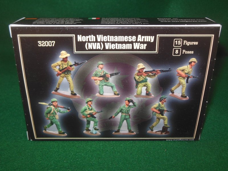 Image 1 of Mars 1/32nd Scale Vietnam War North Vietnamese Army Plastic Figures Set 32007