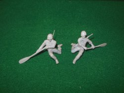 Marx 54mm Recast Pair Of US Army Soldiers Oarsmen Figures