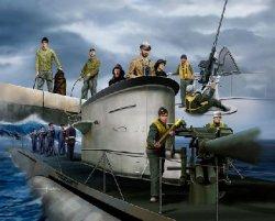 Revell 1/72 Plastic Figures WWII German Navy Crew 2525