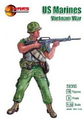 Mars 1/32nd Scale Vietnam War U.S. Marines Plastic Figures Set 32005