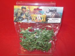 World War II 1/32nd Scale Plastic US Paratroopers Soldiers Set PYS-47