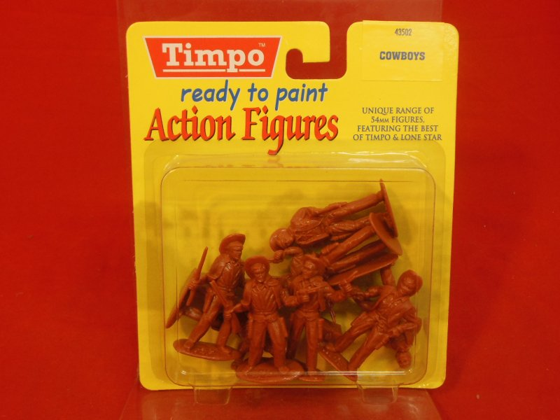 Image 0 of Timpo 54mm Western Cowboys Plastic Figures Set