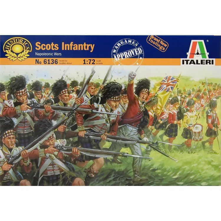 Image 0 of Italeri 1/72 Napoleonic War: Scots Infantry Soldiers Set 6136