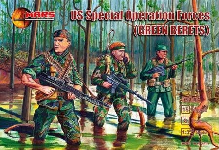 Image 0 of Mars 1/32nd Scale Vietnam War Special Forces Green Berets Figures Set 32008