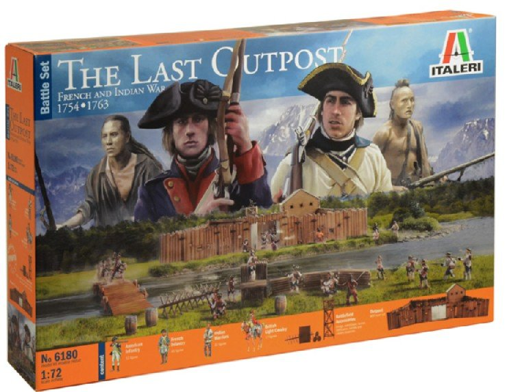 Image 0 of Italeri 1/72 The Last Outpost 1754-1763 French & Indian War Diorama Set 6180