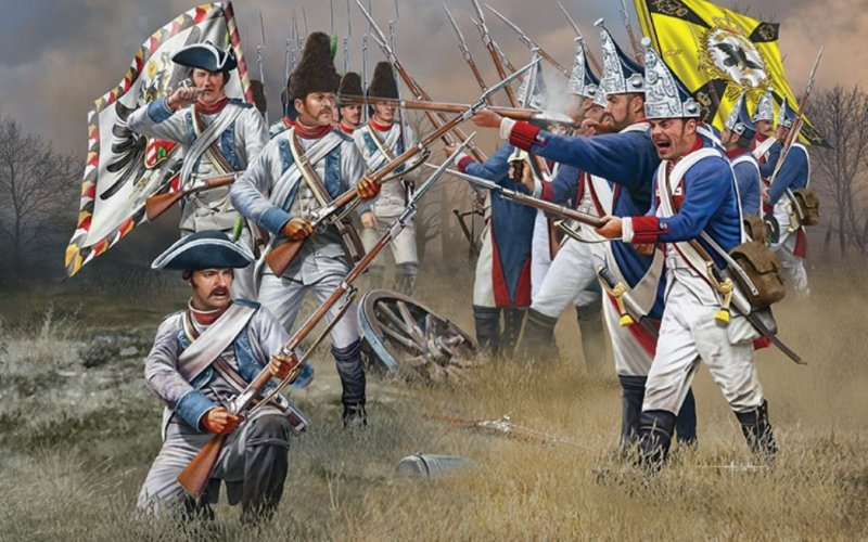 Image 0 of Revell 1/72nd Scale 7 Years War Austrian & Prussian Double Box Set 2452