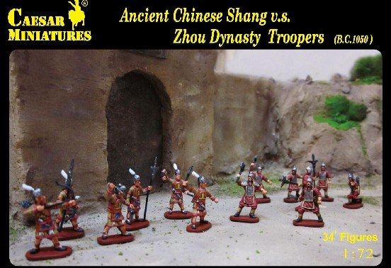 Image 0 of Caesar Miniatures 1/72 Ancient Chinese Shang vs Zhou Dynasty Troopers Set CMF29