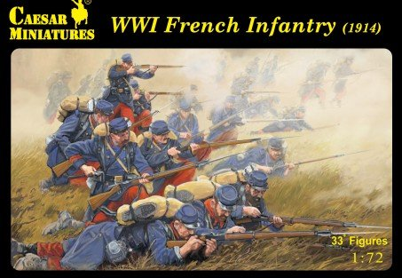Image 0 of Caesar Miniatures 1/72 WWI French Army 1914 Set CMF34