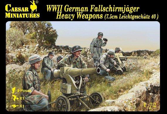 Image 0 of Caesar Miniatures 1/72 WWII German Fallschirmjager Heavy Weapons Set CMF98