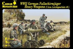 Caesar Miniatures 1/72 WWII German Fallschirmjager Heavy Weapons Set CMF98