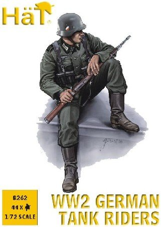 Image 0 of HAT 1/72 WWII German Tank Riders Set 8262