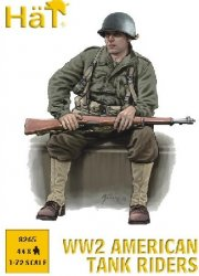 HAT 1/72 WWII U.S. Tank Riders Set 8265