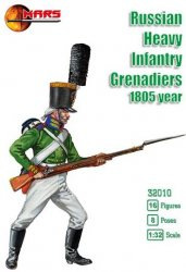 Mars 1/32nd Scale Russian Infantry Grenadiers 1805 Soldiers Set 32010