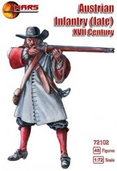 Mars 1/72nd Scale XVII Century Late Austrian Infantry Set 72102