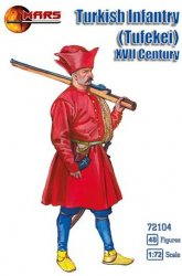 Mars 1/72nd Scale XVII Century Turkish Infantry Tufekei Set 72104