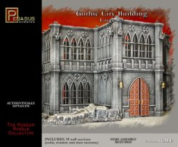 Pegasus Models 28mm Gothic City Building Large Set 4923 Plastic Model Kit
