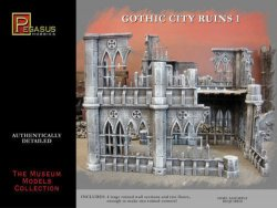 Pegasus Models 28mm Gothic City Building Ruins Set 1 4930 Plastic Model Kit
