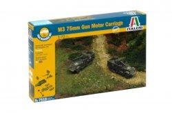 Italeri 1/72nd Scale WWII M3 75mm U.S. Half Track Fast Model Kit 7510