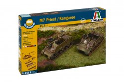 Italeri 1/72nd Scale WWII M7 U.S. Priest 105mm Kangaroo Fast Model Kit 7513