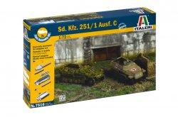 Italeri 1/72nd Scale WWII German Sd. Kfz. 351/1 Half Track Fast Model Kit 7516