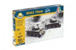Italeri 1/72nd Scale WWII U.S. M4A3 76mm Sherman Tank Fast Model Kit 7521