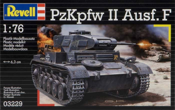 Image 0 of Revell 1/76th Scale WWII German Panzer II Ausf. F Model Kit 3229