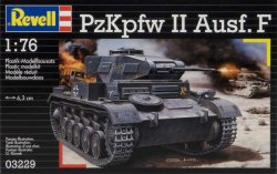Revell 1/76th Scale WWII German Panzer II Ausf. F Model Kit 3229