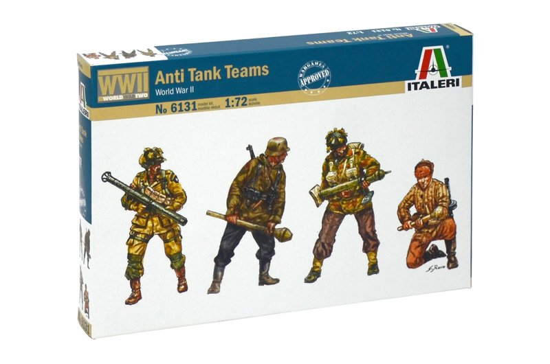 Image 0 of Italeri 1/72nd Scale WWII Anti-Tank Soldier Teams Set 6131
