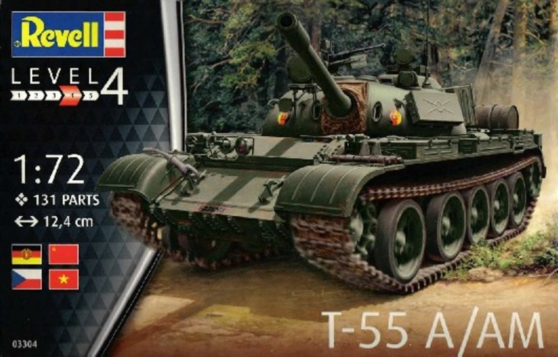 Image 0 of Revell 1/72th Scale Rusian T-55A Tank Plastic Model Kit 3304