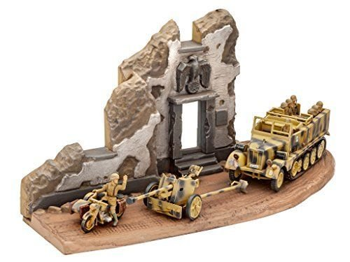 Image 1 of Revell 1/76th Scale WWII German SD KFz. 11 & Pak 40 Plastic Model Kit 3252