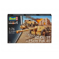 Revell 1/76th Scale WWII German SD KFz. 11 & Pak 40 Plastic Model Kit 3252